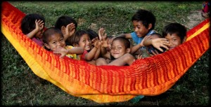 Mlabri Kiddos in a Hammock