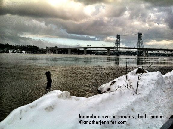 kennebec river in bath maine