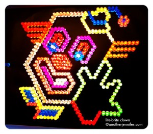 Wordless Wednesday: Lite-Brite Clown
