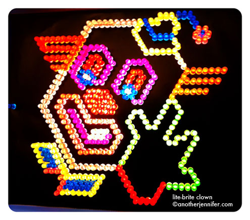 lite-brite clown