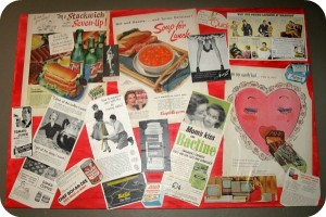 DIY Artwork: Vintage Advertising Collage Art
