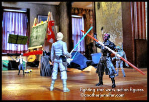 Wordless Wednesday (12.26.12): Fighting Star Wars Action Figures by Jennifer Barbour