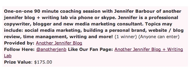 Win a session with me through the Ultimate Blog Party!
