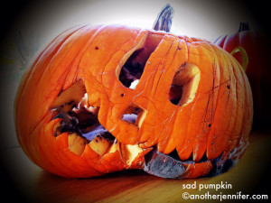 Wordless Wednesday: Sad Pumpkin