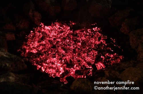 Wordless Wednesday (11.13.13): November Campfire by Jennifer Barbour