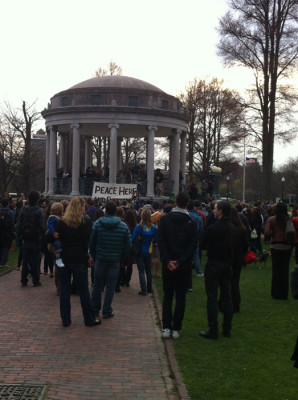I attended a candlelight vigil for the victims in Boston Common.