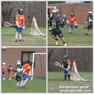 Wordless Wednesday: First Lacrosse Game