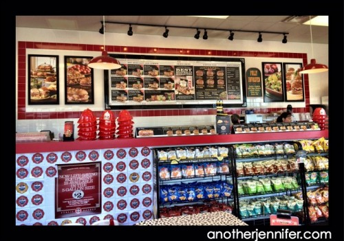 The counter at my local Firehouse Subs in Topsham, Maine.