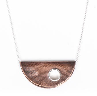 Half Moon Necklace (photo provided by WE'VE)