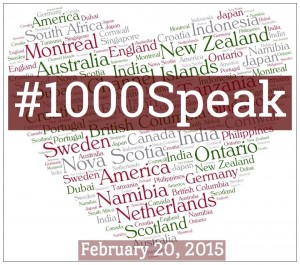 Wordless Wednesday: #1000Speak is Friday!