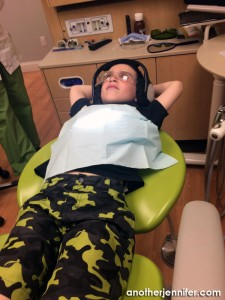 Wordless Wednesday: Lounging at the Dentist's Office