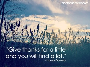 Wordless Wednesday: Give Thanks for a Little