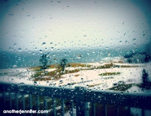 Wordless Wednesday: Rainy Ocean View