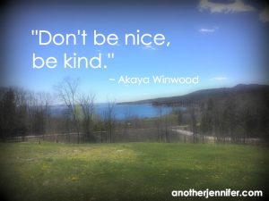 Philanthropy Friday: Be Kind, Not Nice