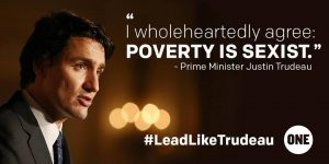 Philanthropy Friday: Prime Minister Justin Trudeau Agrees #PovertyIsSexist