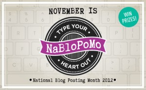 Typing My Heart Out in November: NaBloPoMo 2012