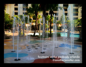 Wordless Wednesday (5.1.13): Fountains at The Peabody Orlando
