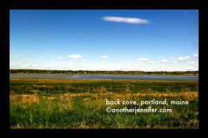 Wordless Wednesday: Back Cove, Portland, Maine