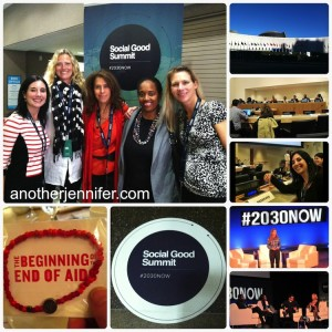 Wordless Wednesday: Social Good Summit #2030NOW