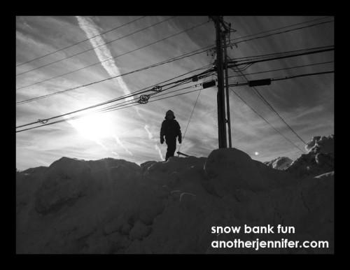 snow bank fun