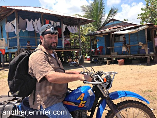 A popular mode of transportation for locals was the motorbike. For fun, we strapped a GoPro camera on Joshua, WaterAid's country director.
