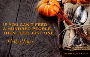 Philanthropy Friday: Scary Mommy Nation Thanksgiving Project 2014