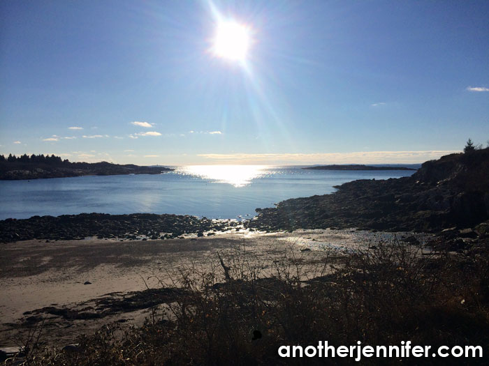 My happy place in 2014: Land's End, Bailey Island, Maine