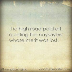 Hump Day Haiku: Quieting the Naysayers